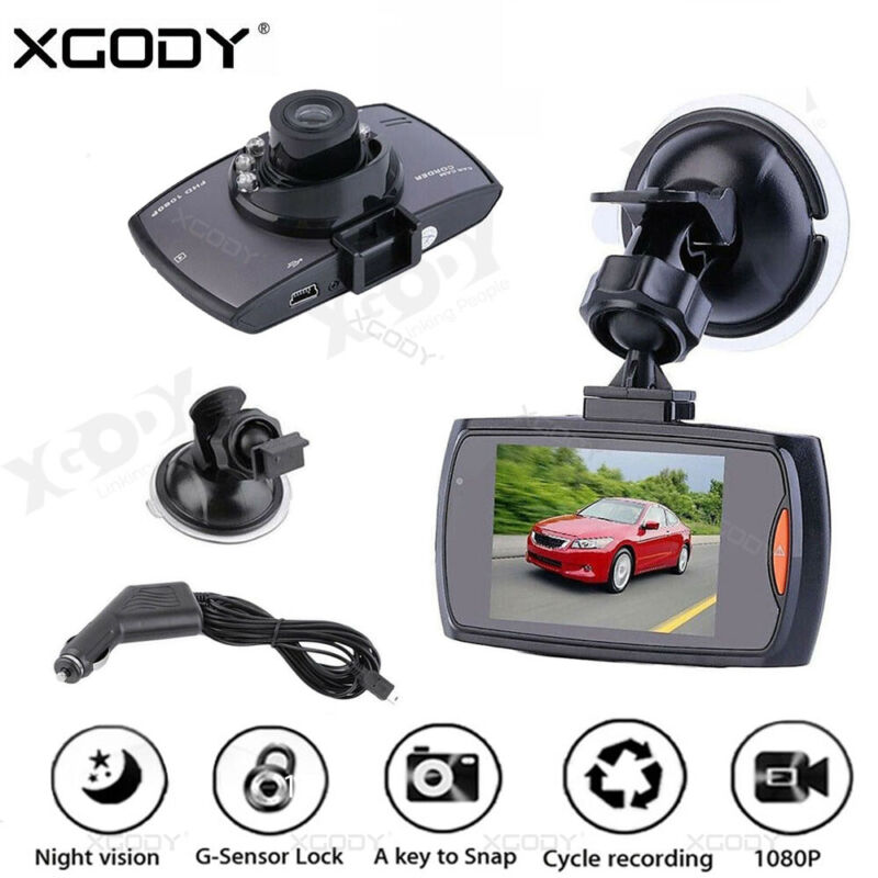 2.7 HD Car Dash Cam DVR 1080P Driving Vehicle Camera Video Recorder Night Vision