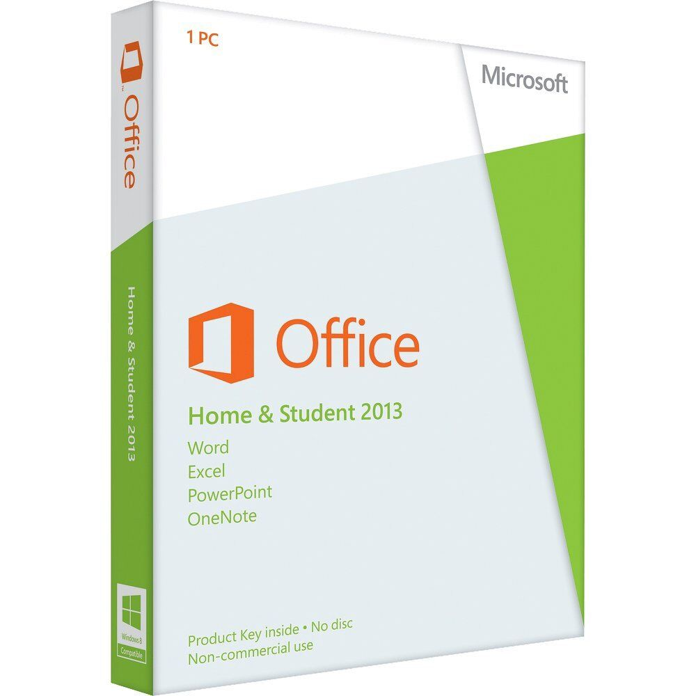 OFFICE HOME AND STUDENT 2013 WITH WORD, EXCEL, POWERPOINT &