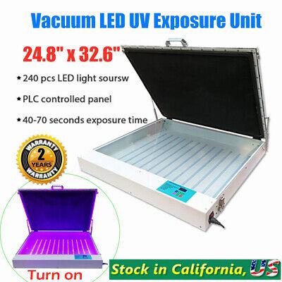 Tabletop Precise 24.8 X 32.6 120w Screen Printing Vacuum Led Uv Exposure Unit
