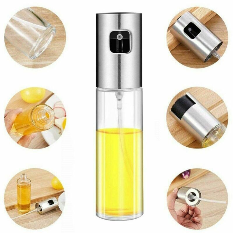 100ml Olive Oil Sprayer Dispenser Kitchen Glass Oil Vinegar