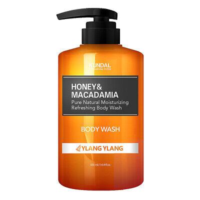 KUNDAL Honey & Macadamia Moisturizing Pure Body Wash Ylang Ylang 500ml K beauty