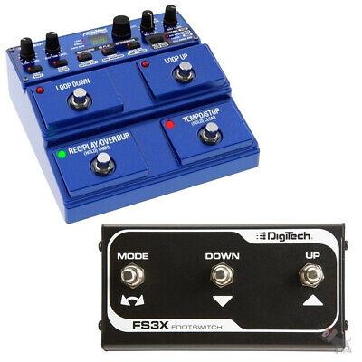 Digitech JamMan Stereo Looper Phaser Sampler Pedal JML2 + FS3X Footswitch Digitech Jamman Looper Pedal