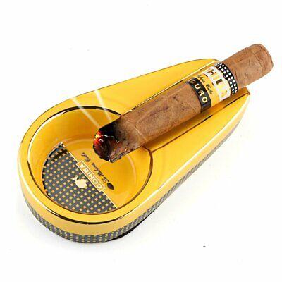 Ceramic Cigar Ashtray Cigarate Travel Ash Holder Ash Single Slot Portable Round