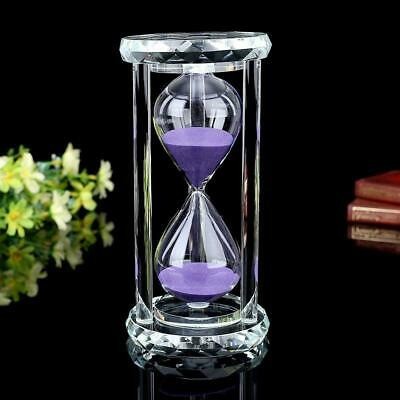 Siveit Crystal Hourglass Sand Timer with Gift Box, 15 min - Purple
