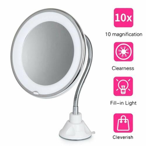 10X Gooseneck Magnifying Makeup Mirror Magnification Bathroo