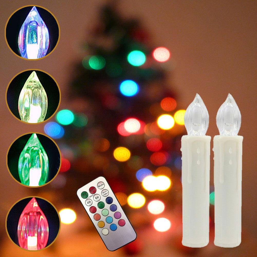 50er rgb lichterkette kerzen kabellos led weihnachtskerzen dimmbar kabellos eur 34 50. Black Bedroom Furniture Sets. Home Design Ideas
