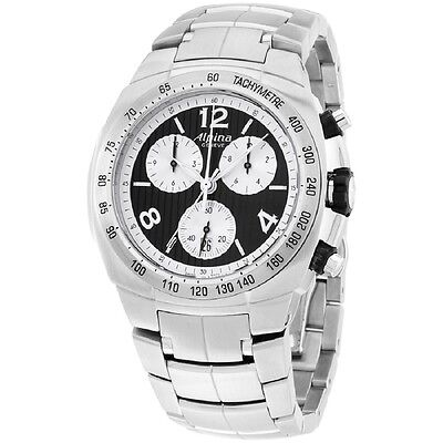 Alpina Avalanche Black Dial Stainless Steel Men's Watch AL350LBSS4A6B
