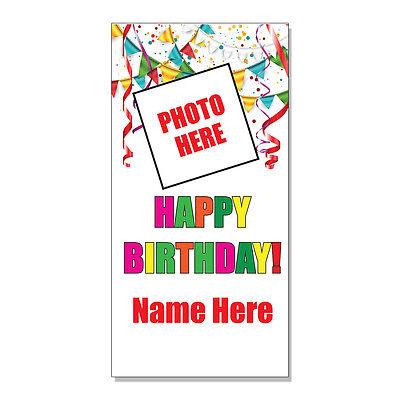 Happy Birthday Custom Photo  DECAL STICKER Retail Store Sign (Custom Birthday Signs)