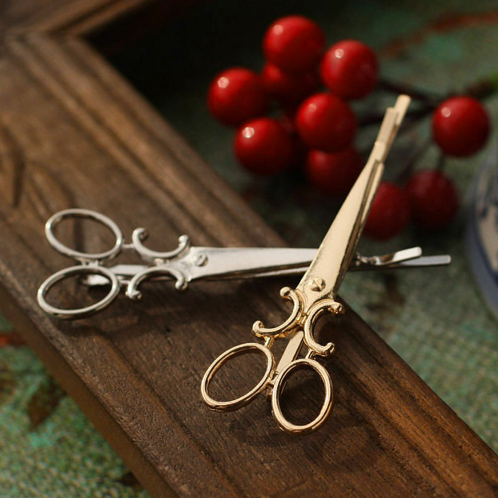 1 Pc Lady Scissors Shape Hair Clip Barrettes Hairpin Decorations Accessorie TO