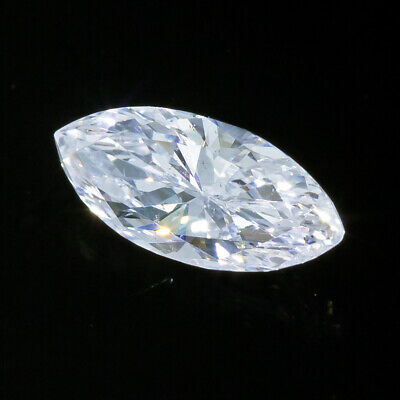 .35 carat GIA Certified F SI2 Colorless Marquise Cut Loose Diamond 3/8 1/3 ct