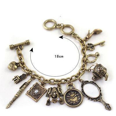 Multielement Wholesale Bracelet Mirror Teapot Frog Clock Heart Bangle Charms