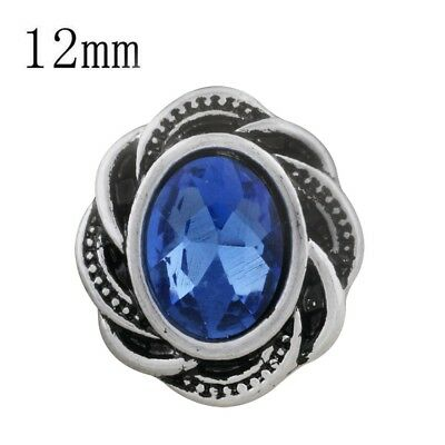 Small Snap - SMALL SNAP * BLUE STONE Snap 12mm Interchangeable Jewelry Fits Ginger Snaps