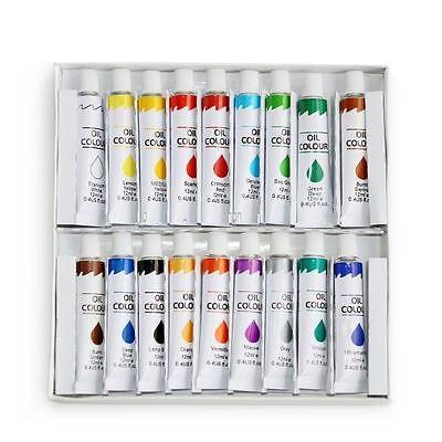 New Oil Paint 18 Pc Set Professional Student Artist 12Ml Tubes Vibrant Colors