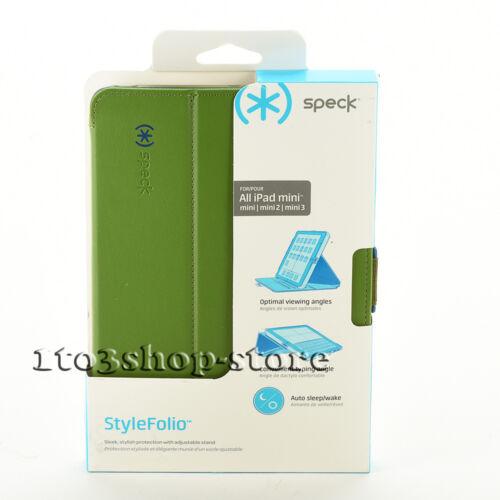 Speck SPK-A3348 StyleFolio Case for Apple® iPad® mini, iPad mini 2 and Rattleskin Dark Gray/Tahoe Blue