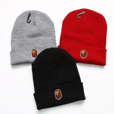 Logo Knit Cap - Hot A BATHING APE BAPE Logo Beanie Knit Ski Winter Warm Hat Unisex Cap New Hat