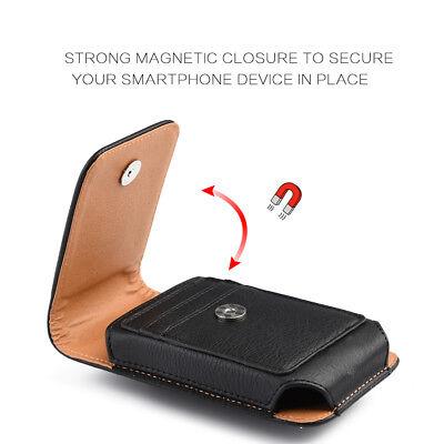 Купить Unbranded/Generic Samsung Galaxy J7 - for SAMSUNG GALAXY J7 - Vertical BLACK Leather Pouch Holster Case w/ Belt Clip