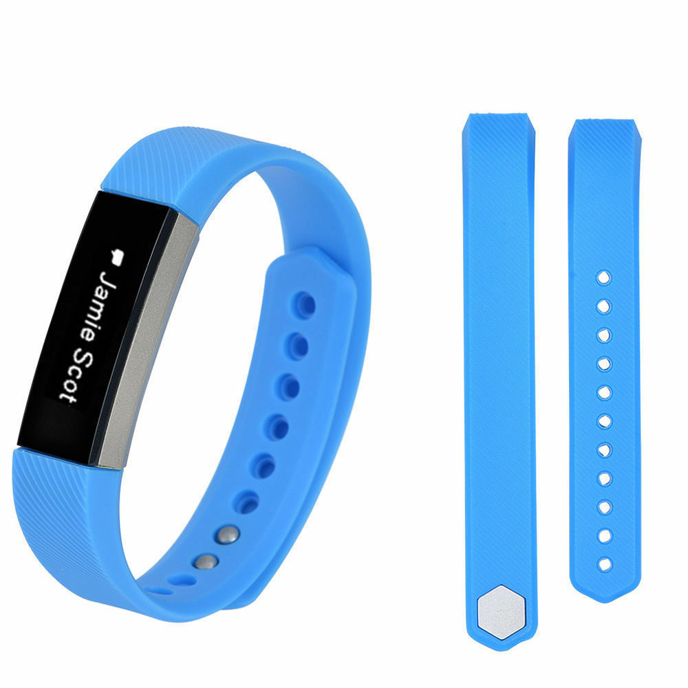 Replacement Silicone Wrist Band Strap For Fitbit Alta/ Fitbit Alta HR Sky Blue