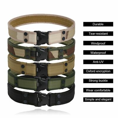 Security Tactical Combat Belt Utility Gear Adjustable Heavy Duty Quick Release (Duty Belt Gear)