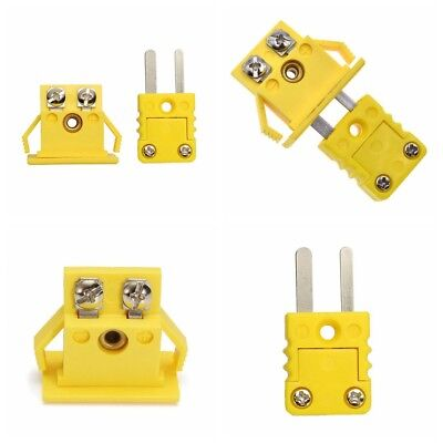 One Set Thermocouple K Type Miniature Socket Panel Mount Alloy Plug Connector