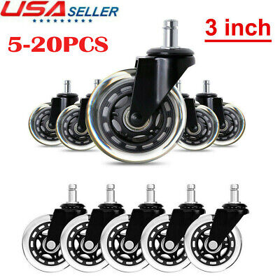 520pcs Universal Office Chair Caster Wheels Heavy Duty Safe 3 Rollerblade Us