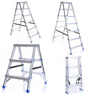 Leiter Aluleiter Klappleiter Haushaltsleiter 150kg 2-8 Stufen Klapptritt Steh