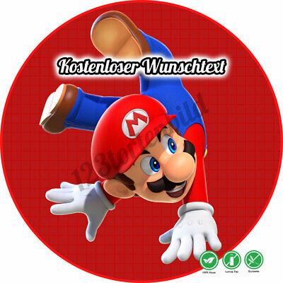 tstag Tortenbild Zuckerbild Oblate Super Mario 03 (Super Mario Kuchen)