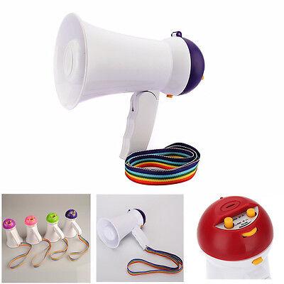 PORTABLE MEGAPHONE SIREN LOUD SPEAKER HAILER HORN SPORTS HANDHELD SOUND NEW