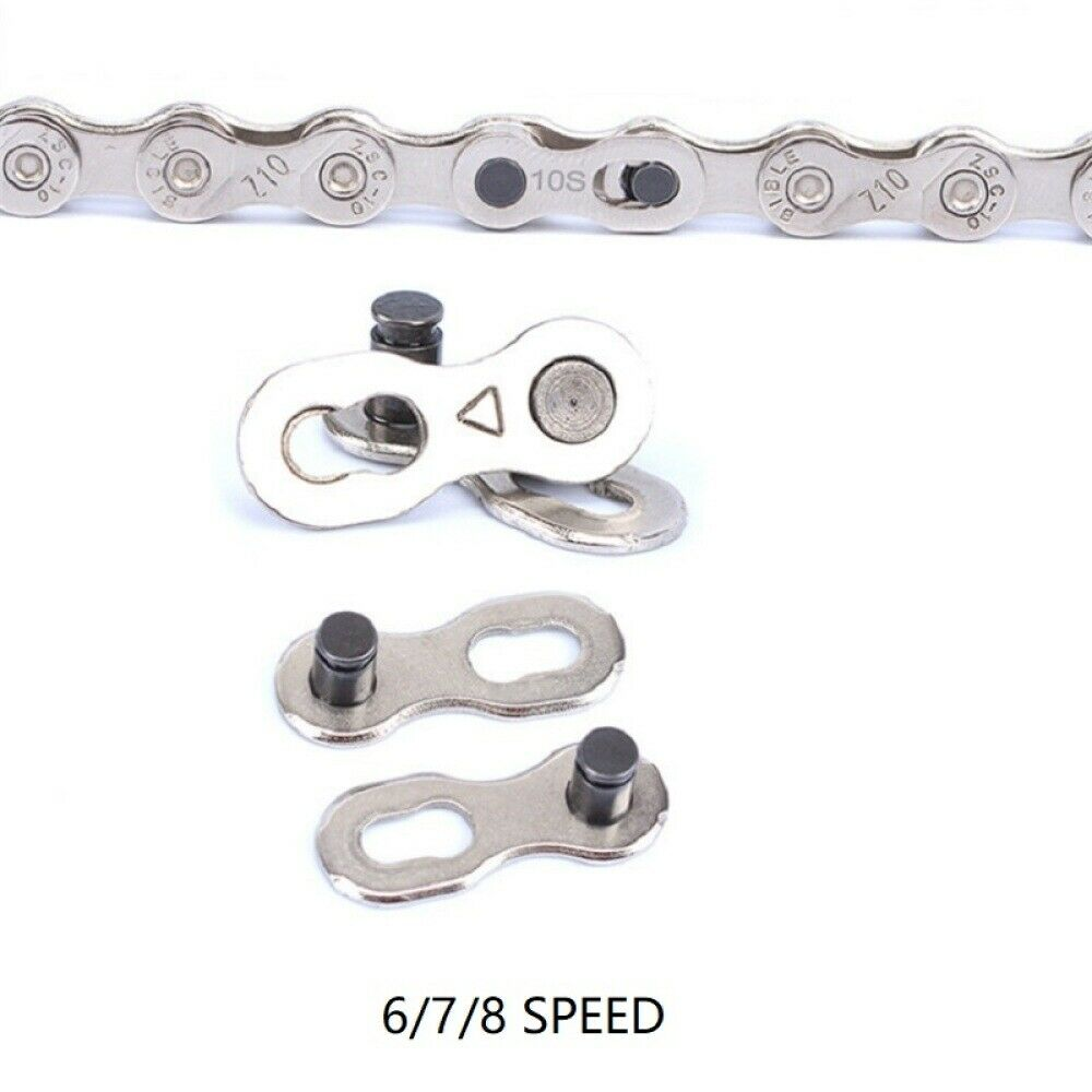 5 Pairs Steel Bike Chain Master Link Quick Magic Joint Connector 6-7-8 Speed New