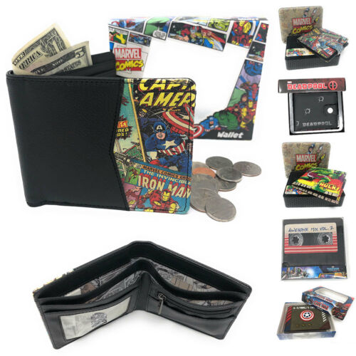 Marvel Comics Fans BiFold Wallets Passport Holder Great Gift Idea Back to School