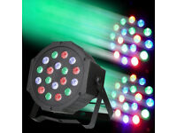 Bright 55W LED DMX Flood Wash Par Multi Colour Mixing Stage Light DJ Club Band Lighting Party