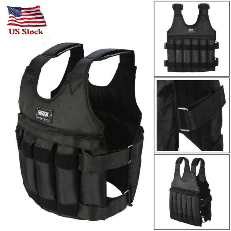 Adjustable Workout Weight 110LB Weighted Vest Exercise Stren