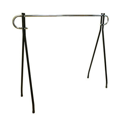 48h Black Clothing Rack Garment Display Single Chrome Bar Retail Fixture