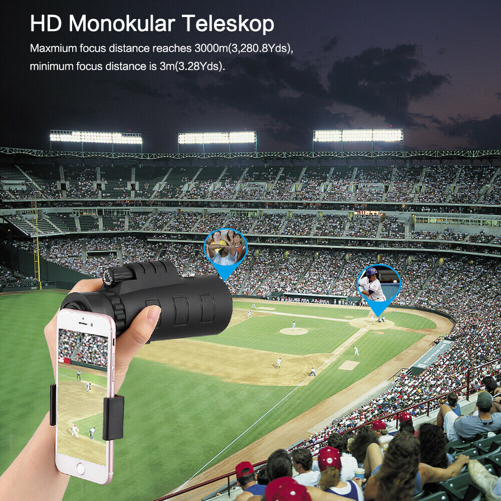 50X60 Fernglas HD-Optik-Zoom-Monokular Fernrohr Teleskop mit Stativ für Handy DE