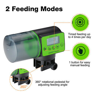 Automatic Fish Feeder Aquarium Tank Auto Fish Timer Feeder Adjustable Fish Food