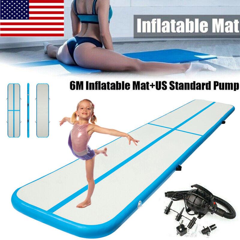 20FT Air track Inflatable Air Track Floor Home Gymnastics Tumbling Mat GYM+Pump
