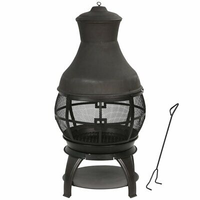 Bali Chiminea Fireplace Outdoor Patio Fire Pit Wood Burning Heater Cast Iron US