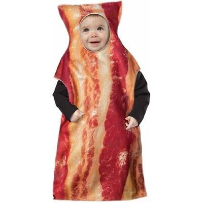 Baby Bacon Halloween Costume (Rasta Imposta Infant Baby Boy Bacon Bunting 6-12M Halloween Costume New)