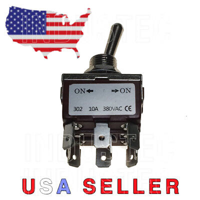 1 E-ten302 10a 380v Ac Toggle 12mm 12 Mount Tpdt 2 Position Maintained 2lmy8