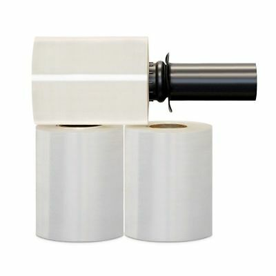 Shrink Wrap Stretch Film Clear 2 Rolls 5x1000 80 Gauge Without Handle