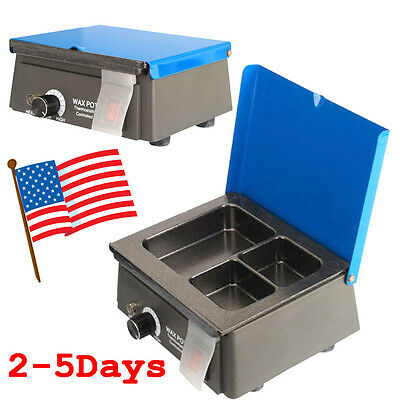 Usa Dental 3 Well Analog Wax Melting Dipping Pot Heater Melter Lab 300w 0-150