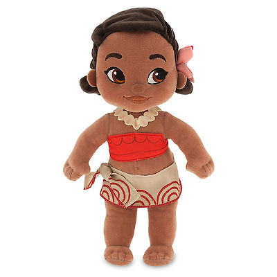 "Disney Store Authentic Animators Collection Moana Toddler Plush Toy Doll 12"" NWT"