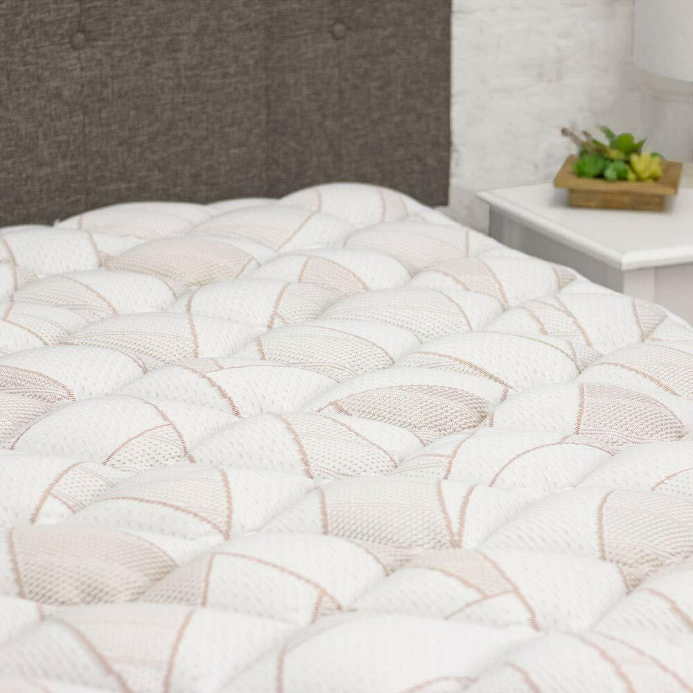 Copper Topper Plush Bed Cover Pillow Top Mattress Pad Fitted