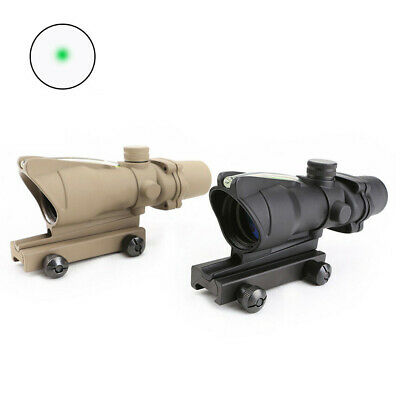 Tactical ACOG 1X32 real Green Fiber Green dot sight scope optics for Airsoft