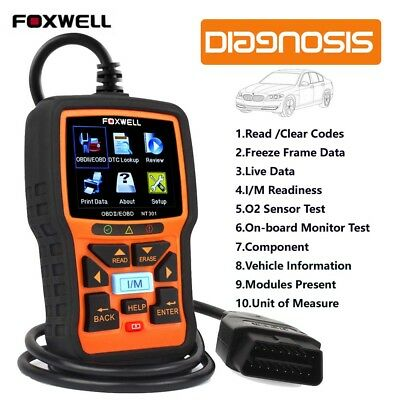 Foxwell  Fault Code Reader OBD2 Scanner Engine Car Diagnostic Reset Tool NT301
