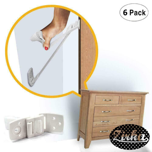 New Furniture And TV Anti Tip Straps 6-Pack Wall Strap For Child Proofing