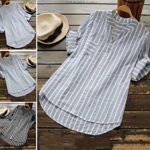 casual fashion women s striped tops shirt