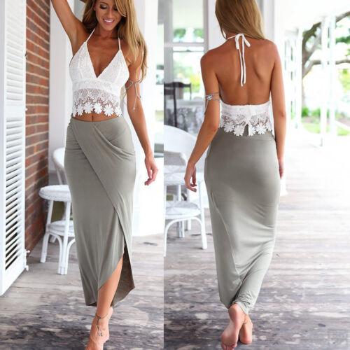 Fashion Women Summer Boho Long Evening Party Beach Long Maxi Sundress Dress Clothing, Shoes & Accessories