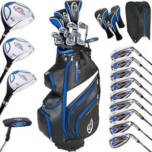 Herren Golf Set Golfschläger Komplettset Graphit mit 13 Schläger und Tasche Bag