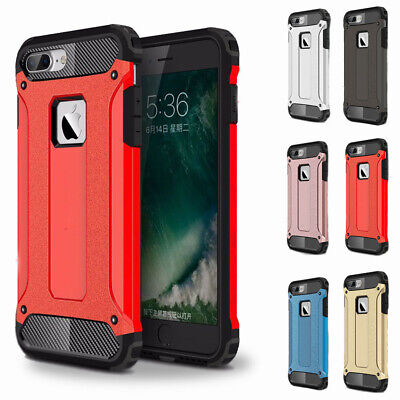 For iPhone 8/ 7/ 6/ 6S Plus 5/ 5S/SE Hard Case Hybrid Armor Defender Phone Cover