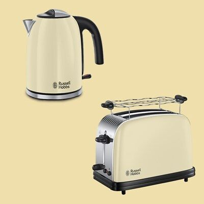 Russell Hobbs Set Colours Plus+ Classic Cream Wasserkocher 1,7 L + Toaster